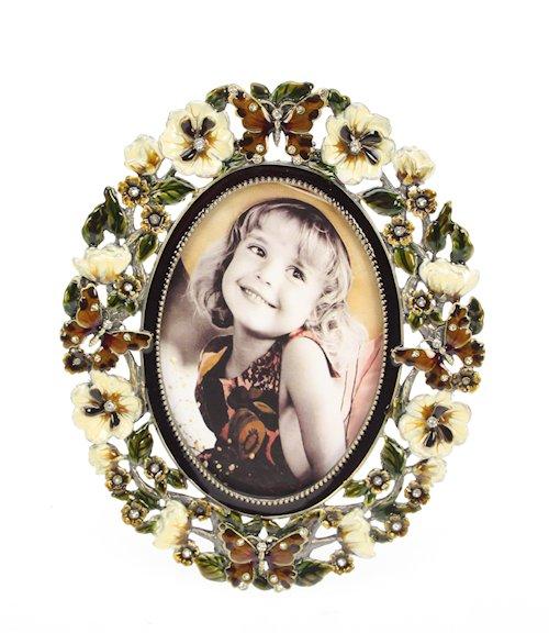 Victoriangifts.nl :: Fotolijsten :: Fotolijstje email vlinders/bloemen ...