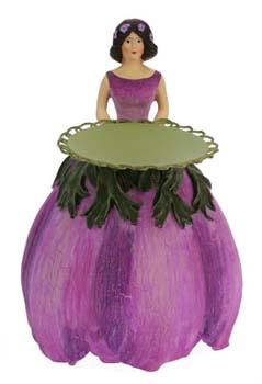 Anemonen meisje kaarsenhouder 16cm