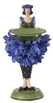 Korenbloem meisje kaarsenhouder 18cm