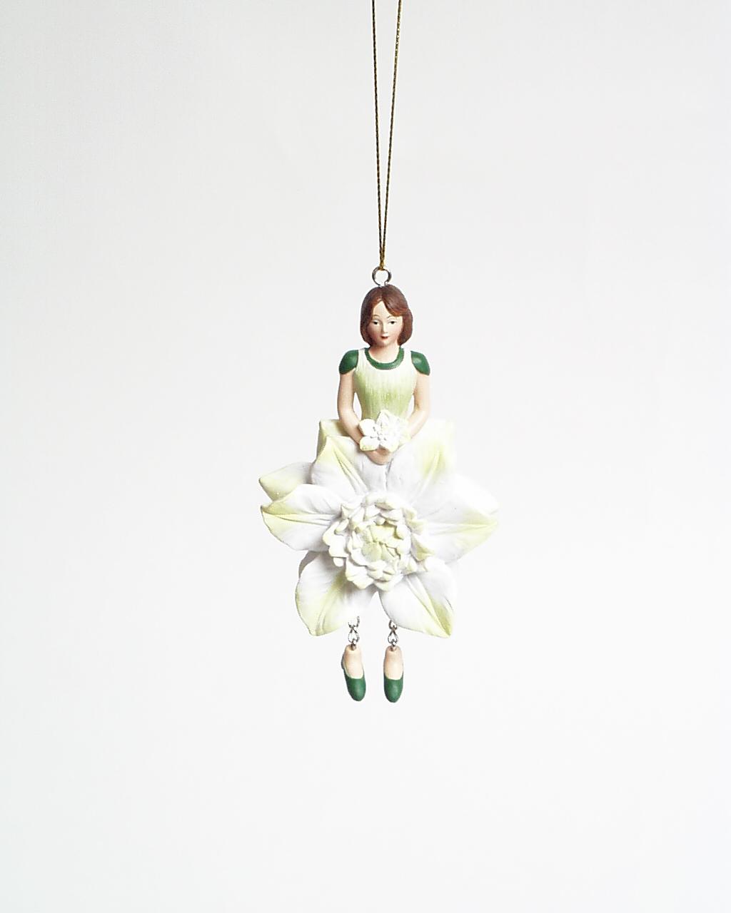 Clematis meisje hangend 12cm wit