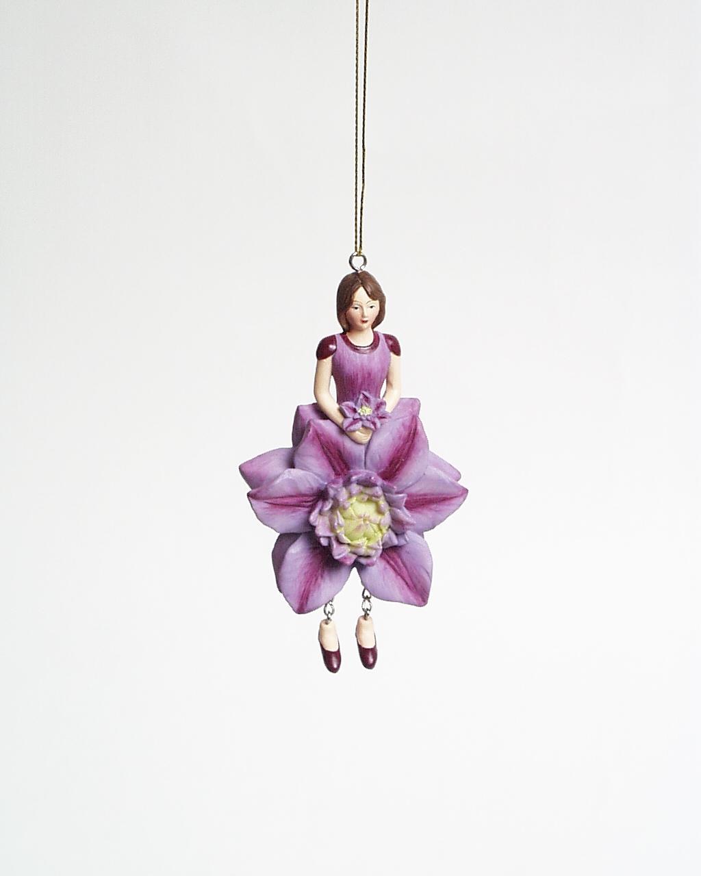 Clematis meisje hangend 12cm lila