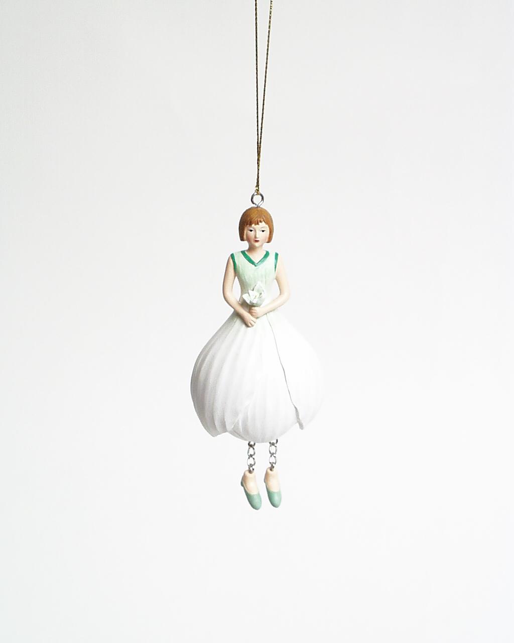 Krokus meisje hangend 12cm wit