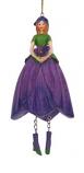 Viooltje meisje hangend 12cm