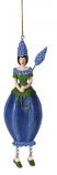 Blauw druifje meisje hangend 14cm