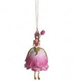 Rozenmeisje hangend roze 12cm