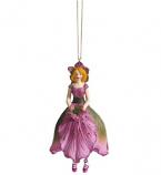 Kerstroos meisje hangend rose 11cm
