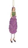 Hyacintenmeisje lila hangend 11cm