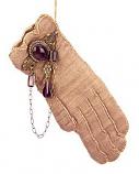 Handschoentje met sieraad 16x7,5cm