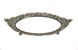 Dienblad spiegel goudkl. roosje 29x18,5cm