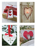 Christmas Hearts Notecards 17x12cm