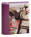 Romantic French Mini Address Book 15x14cm