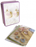 Baby Tinned Notecards (pink) 17x12cm