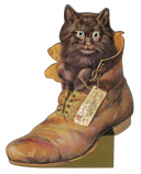 Kaart Cat-in-Shoe moving eyes
