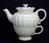 Tea for one creamware kantrand 19cm
