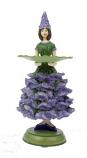 Lavendel meisje grt kaarsenhouder 18cm