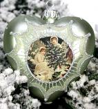Kerstbal hart meisjes kerstboom groen