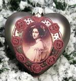 Kerstbal Hart schoonheid roosjes