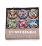 Magneetjes postzegel, set van 6