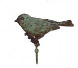 Haakje Vogel Turquoise 13,2x4x10,5cm