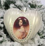Kerstbal Hart schoonheid wit