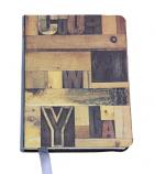 Salvage Style Wood blocks mini notebook 15x11cm