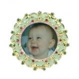 Fotolijstje mini rond ornament 3,5x4cm
