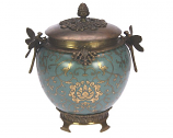 Pot rond Libelle,Turquoise and Gold 22,5cm