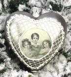 Kerstbal Hart kinderen grijs