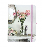 Shabby Chic Roses notebook 15x11cm
