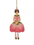 Appelbloesem meisje hangend roze 12cm