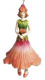 Hibiscus meisje hangend 12cm perzik