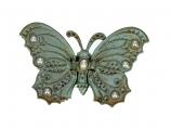 Doosje vlinder turquoise 8,7x5,5cm