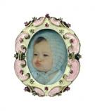 Fotolijstje mini ov. ornament 3,5x4cm