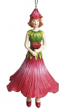 Hibiscus meisje hangend 12cm rood
