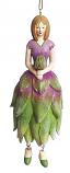 Protea meisje hangend 12cm lila groen
