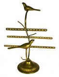 Oorbellenrek m/vogeltjes goudkleurig