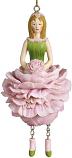 Pioenroos meisje roze hangend 12cm