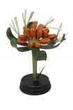 Botanische bloem oranje 25x11cm