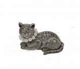 Doosje kat met parels 4,5x3cm