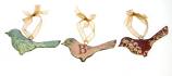Set van 3 vogeltjes om op te hangen