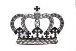 Kroon met kruis wanddecoratie
