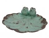 Schaaltje vogeltjes turquoise 11x11x4cm