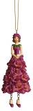 Violier meisje donker roze hangend 12cm