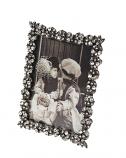 Fotolijstje rechthoekig tin met strass 6x8cm