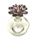 Parfumflesje bloem strass paars 7,5x5