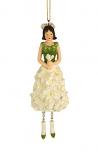 Bloemenmeisje Ridderspoor hangend wit 14 cm