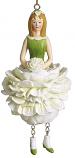 Pioenroos meisje wit hangend 12cm