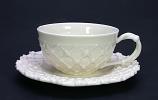 Kop en schotel creamware 15cm