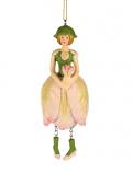 Tulp meisje hangend licht roze 13cm