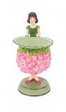Geranium meisje kaarsenhouder 14cm